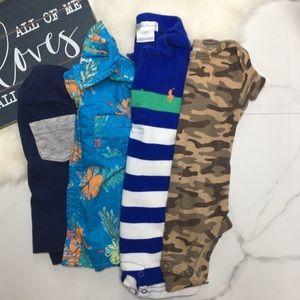 🎉Bundle baby boy bodysuits romper tops tee A6-4